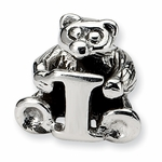 SimStars Kids Reflections Silver Letter I Bead