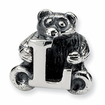 SimStars Kids Reflections Silver Letter L Bead