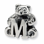 SimStars Kids Reflections Silver Letter M Bead