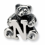 SimStars Kids Reflections Silver Letter N Bead