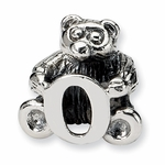 SimStars Kids Reflections Silver Letter O Bead