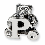 SimStars Kids Reflections Silver Letter P Bead