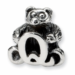 SimStars Kids Reflections Silver Letter Q Bead
