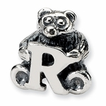 SimStars Kids Reflections Silver Letter R Bead