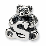SimStars Kids Reflections Silver Letter S Bead