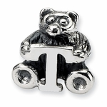 SimStars Kids Reflections Silver Letter T Bead
