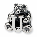 SimStars Kids Reflections Silver Letter U Bead