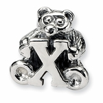 SimStars Kids Reflections Silver Letter X Bead