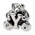 SimStars Kids Reflections Silver Letter Y Bead