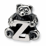 SimStars Kids Reflections Silver Letter Z Bead