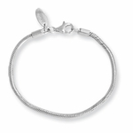 SimStars Kids Reflections Silver Lobster Polished Bracelet
