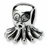 SimStars Kids Reflections Silver Octopus Bead