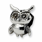 SimStars Kids Reflections Silver Owl Bead