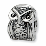 SimStars Kids Reflections Silver Owl Clip Bead
