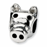 SimStars Kids Reflections Silver Pig Bead
