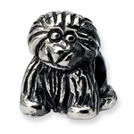 SimStars Kids Reflections Silver Puppy Bead