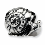SimStars Kids Reflections Silver Snail Bead