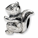 SimStars Kids Reflections Silver Squirrel Bead