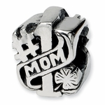 SimStars Reflections Silver  #1 Mom Bead
