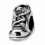 SimStars Reflections Silver Baby Shoe Bead