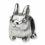 SimStars Reflections Silver Bunny Bead