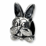 SimStars Reflections Silver Easter Bunny Bead
