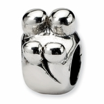 SimStars Reflections Silver Family of 4 Bead