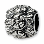 SimStars Reflections Silver Floral Bead