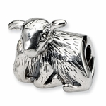 SimStars Reflections Silver Lamb Bead