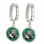 Slippery Rock Rocks Enamel Large CZ Hoop Earrings