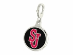 St Johns Red Storm Enamel Lobster Claw Charm