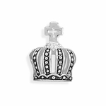 Sterling Silver Soccer Ball Crown Bead
