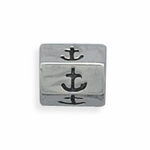 Sterling Silver Story Anchor Bead