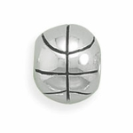 Sterling Silver Story Basketball Bead