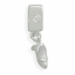 Sterling Silver Story Bead with High Heel Charm