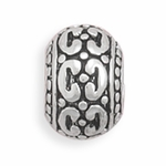 Sterling Silver Story C Pattern Bead