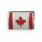 Sterling Silver Story Canadian Flag Bead