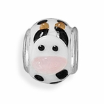 Sterling Silver Story Cow Glass Bead