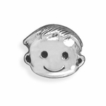 Sterling Silver Story Cute Boy Bead