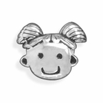 Sterling Silver Story Cute Girl Bead