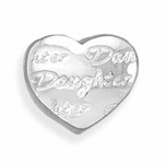 Sterling Silver Story Daughter Heart Bead