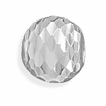 Sterling Silver Story Diamond Cut Bead