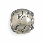 Sterling Silver Story Earth Globe Bead