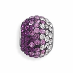 Sterling Silver Story Fading Purple Crystal Bead