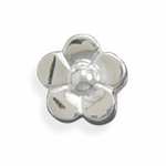 Sterling Silver Story Flower Bead