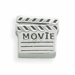 Sterling Silver Story Movie Clap Board Bead