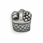 Sterling Silver Story Picnic Basket Bead