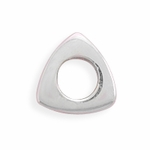 Sterling Silver Story Polished Triangle Bead