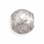 Sterling Silver Story Round Mother and Child Bead