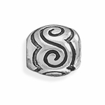 Sterling Silver Story S Design Bead